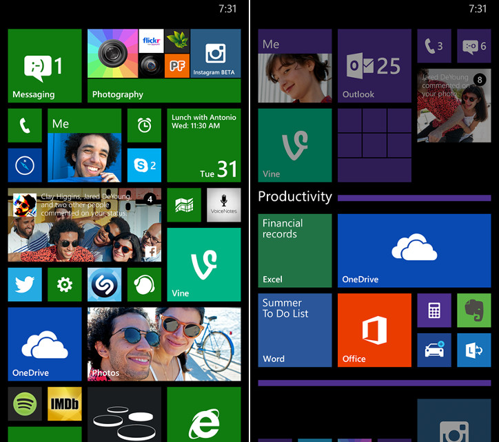 Windows Phone 8.1 - Żywe foldery