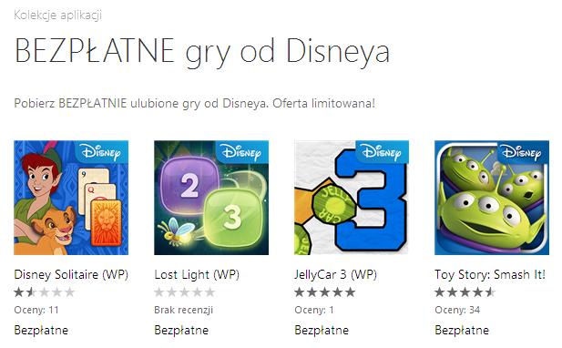 Bezpłatne gry od Disneya