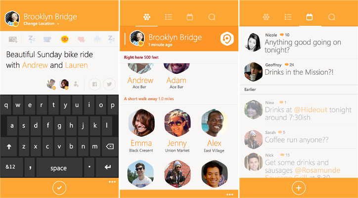 Foursquare Swarm Windows Phone