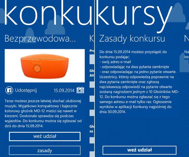 Nokia Konkursy - Przenośny bezprzewodowy głośnik Nokia MD-12