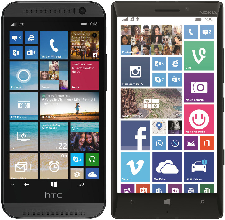 Nokia Lumia 930 vs HTC One M8