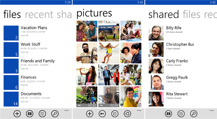 OneDrive Windows Phone