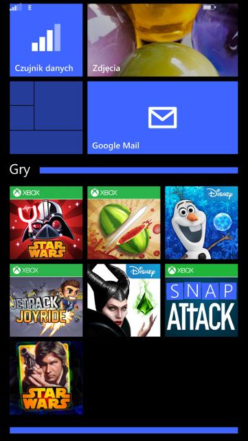 Windows Phone 8.1 Update 1 - Żywe foldery