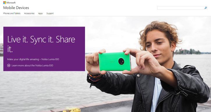 Strona Microsoft Mobile