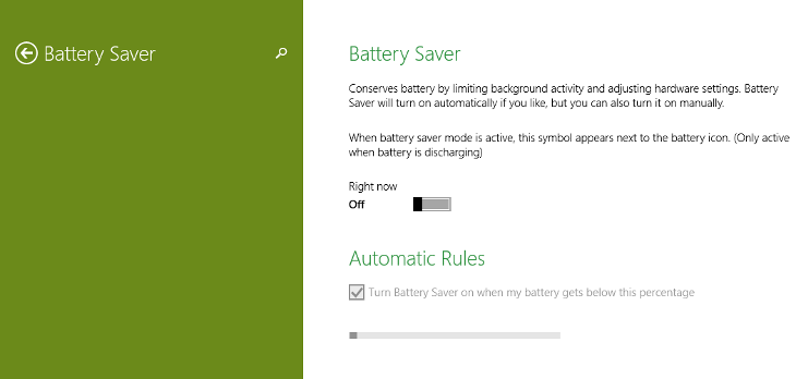 Battery Saver Windows 10 Technical Preview