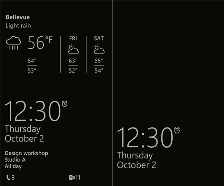 Ekran podglądu Lumia Windows Phone