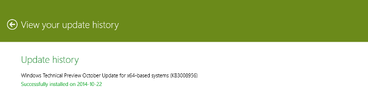 Windows 10 Update - KB3008956