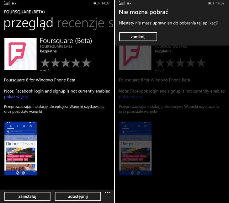 Foursquare Beta Windows Phone