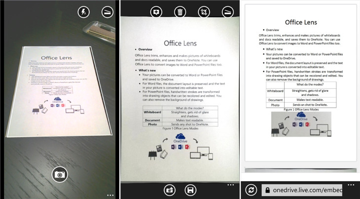 Office Lens Windows Phone