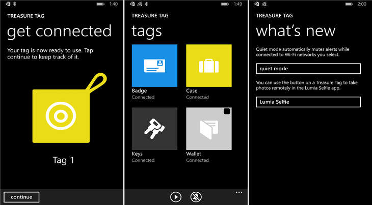 Treasure Tag Windows Phone