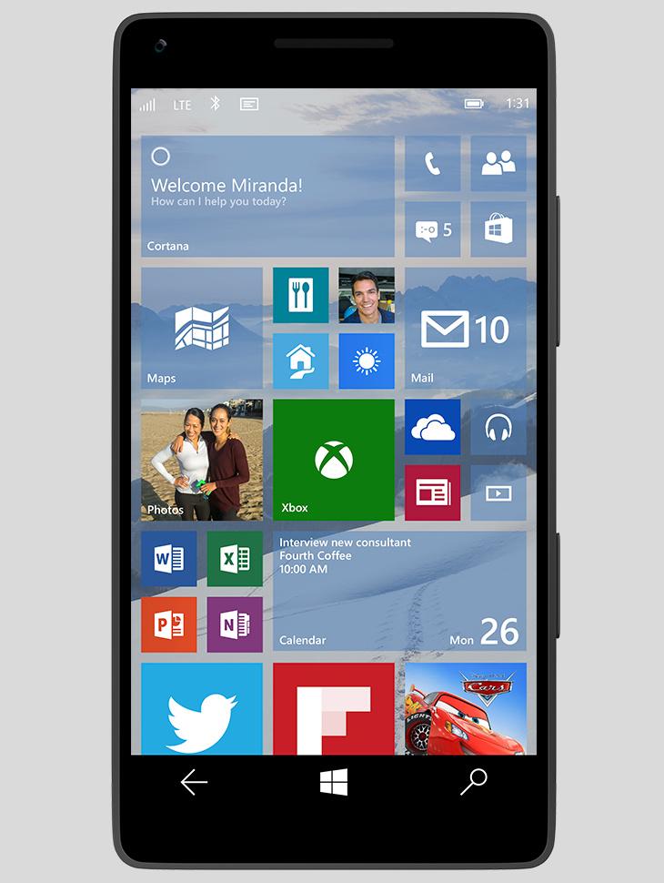 Ekran startowy Windows 10