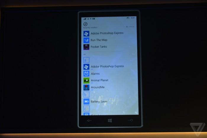 Lista aplikacji Windows 10