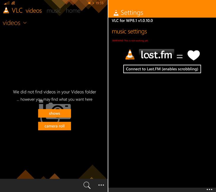 VLC 1.0.10.0 Windows Phone