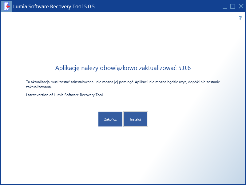 Lumia Software Recovery Tool 5.0.6