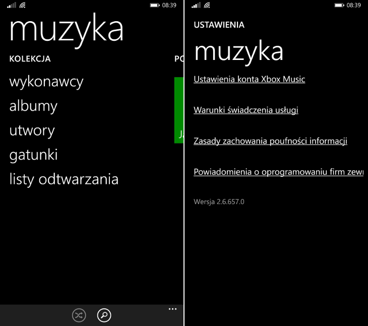 Muzyka Windows Phone