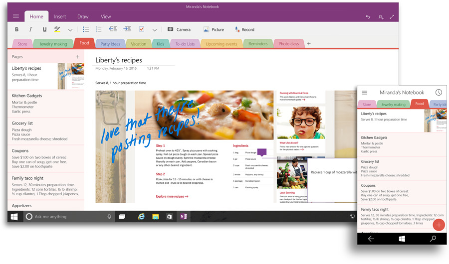 OneNote dla Windows 10