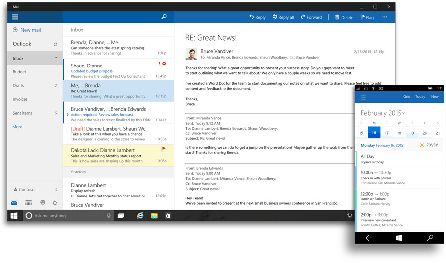 Outlook dla Windows 10