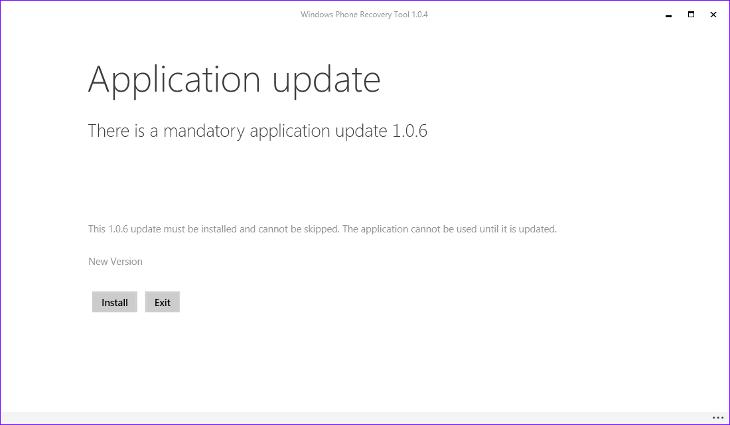 Windows Phone Recovery Tool 1.0.6
