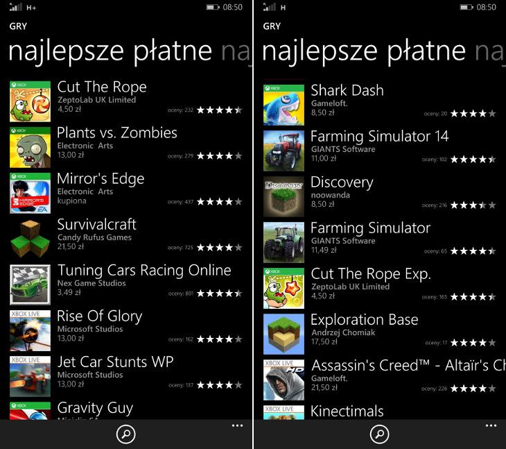 Podwyżka cen w Sklepie Windows Phone