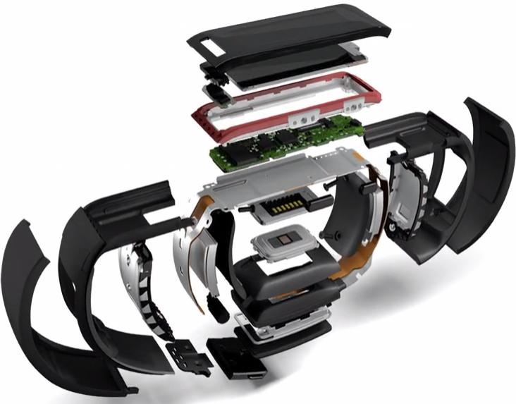 Budowa opaski Microsoft Band