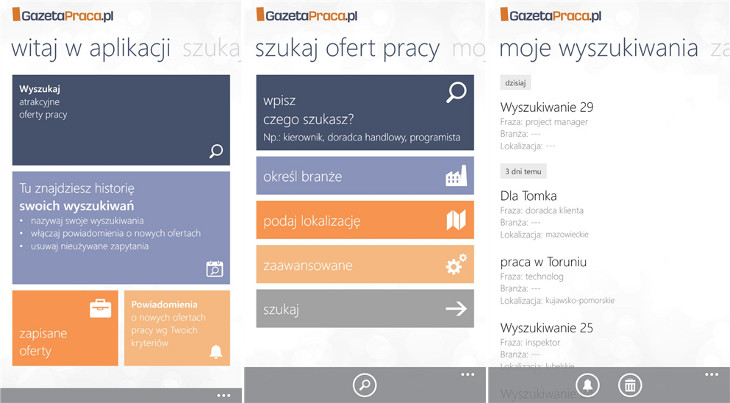GazetaPraca.pl dla Windows Phone