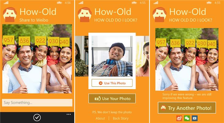 Microsoft How-Old Windows Phone