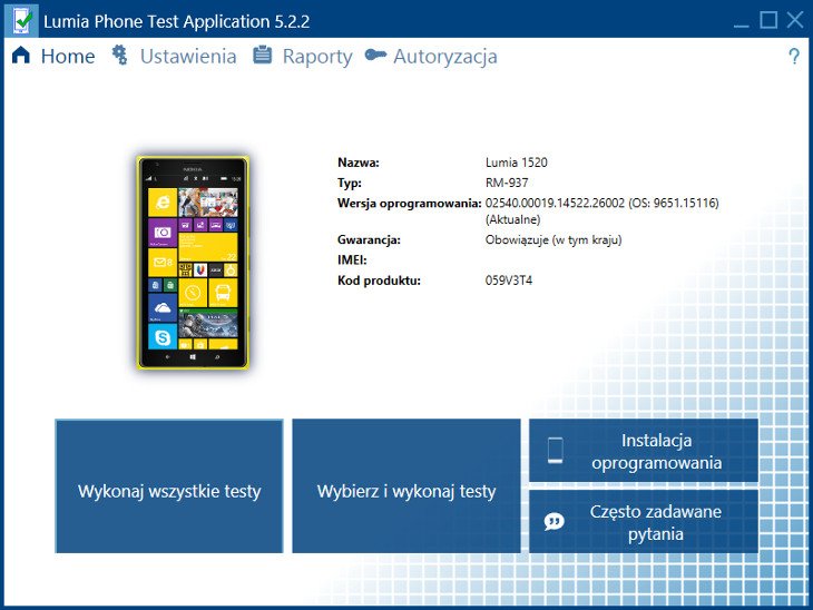 Lumia Phone Test Application