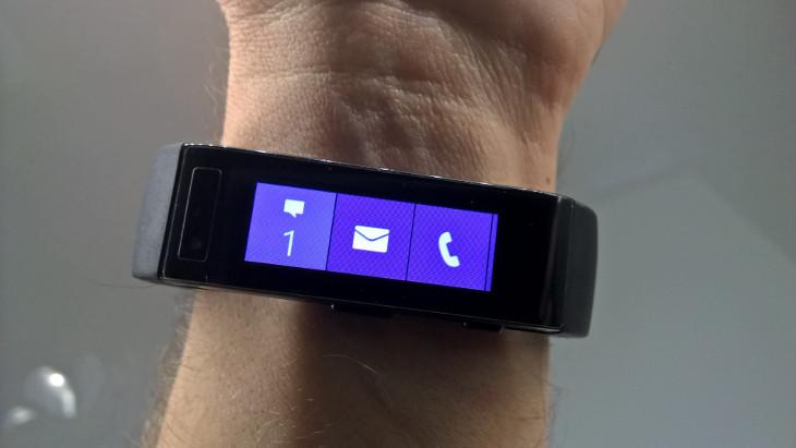 Microsoft Band - kafelki z aplikacjami