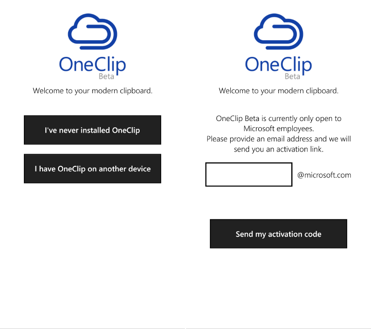 Microsoft OneClip Beta
