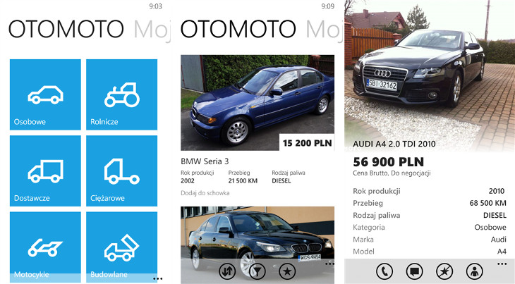 OTOMOTO Windows Phone