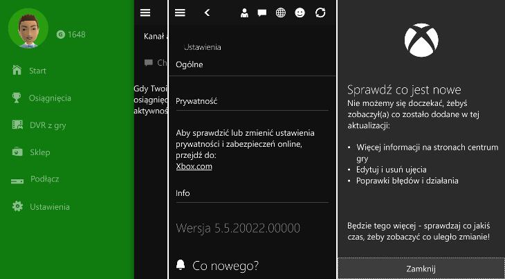 Xbox 5.520022.00000 dla Windows 10 Mobile