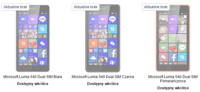 Microsoft Lumia 540 Dual SIM w NokiaSklepOnline.pl