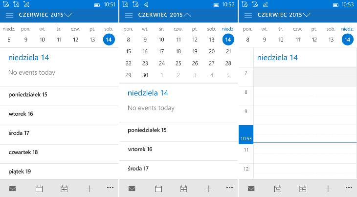 Outlook Calendar - Windows 10 Mobile