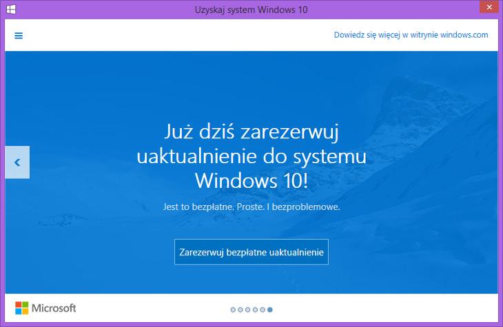 Rezerwacja Windows 10 dla komputerów