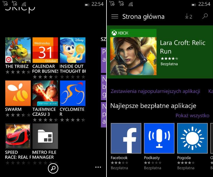 Sklep Windows Phone vs Sklep Windows Beta