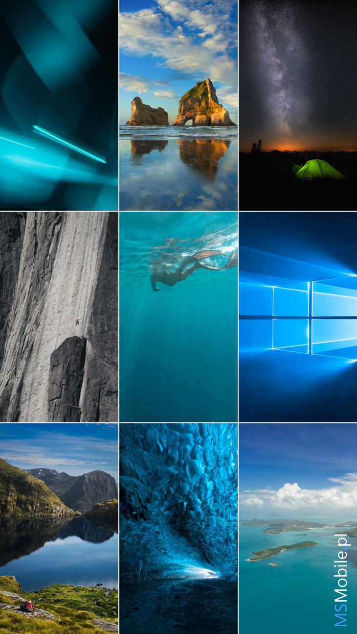 Tapety Windows 10 Mobile Build 10162