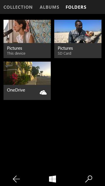 Zdjęcia - widok folderów