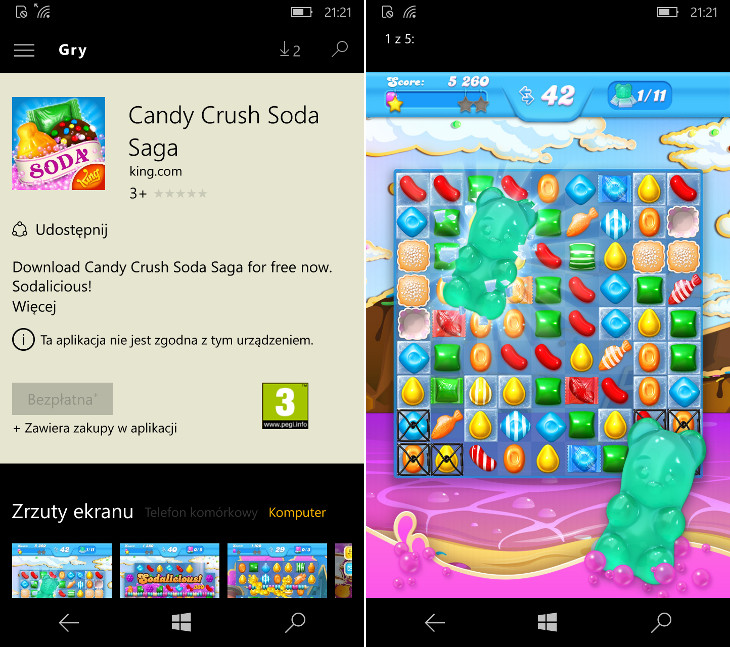 Candy Crush Soda Saga dla Windows 10