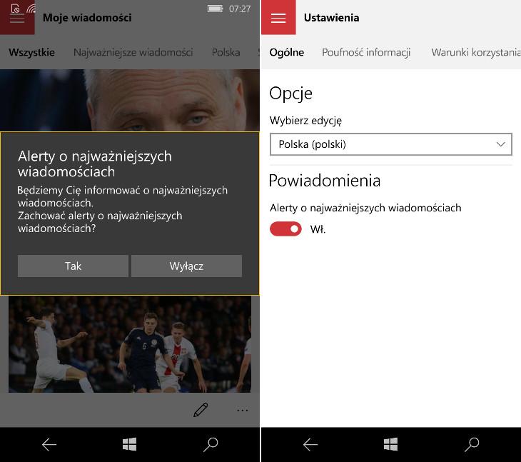 MSN Wiadomości - Windows 10 Mobile
