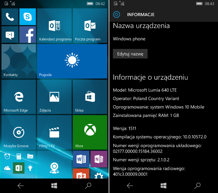 Windows 10 Mobile Build 10572
