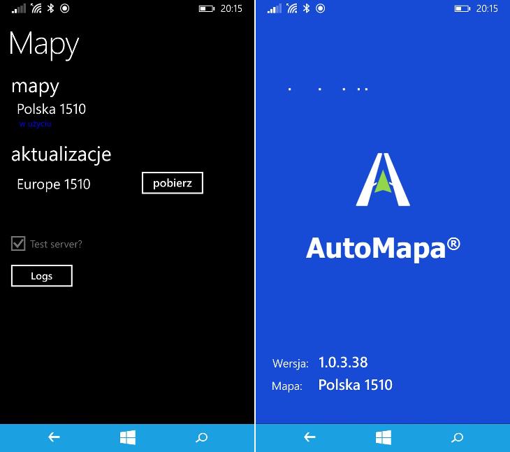AutoMapa Windows Phone 8.1