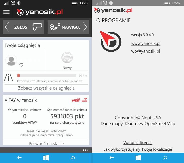 Yanosik 3.0.4