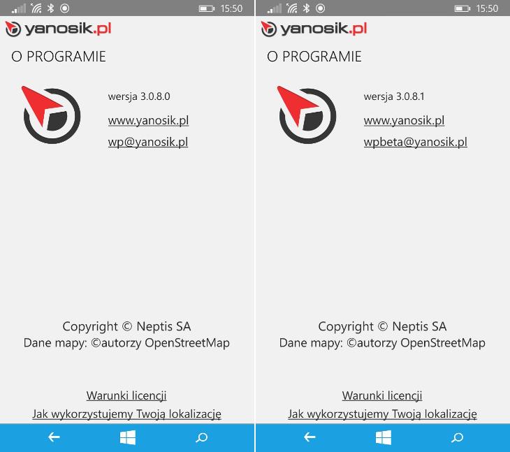 Yanosik 3.0.8.0 i Yanosik Beta 3.0.8.1