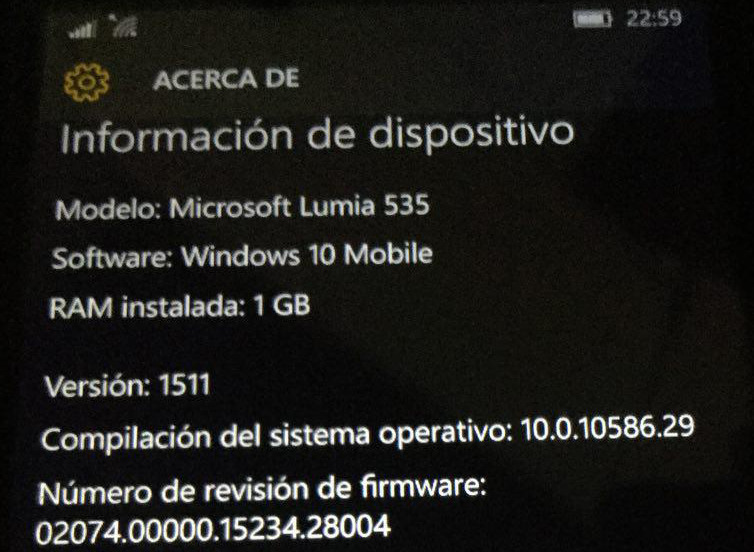 Lumia 535 - Windows 10 Mobile