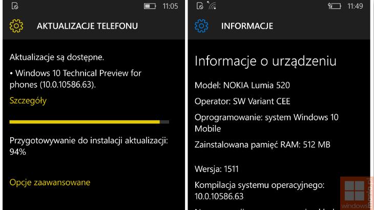 Windows 10 Mobile Build 10586.63