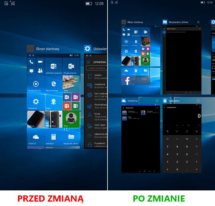 Windows 10 Mobile - menedżer zadań