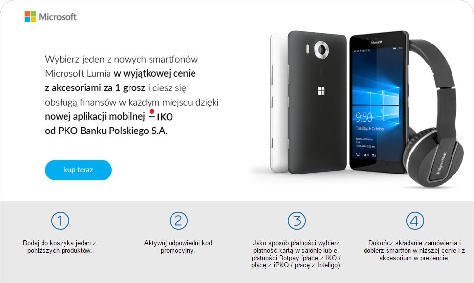 x-kom.pl i PKO - promocja Lumia 550 i Lumia 950