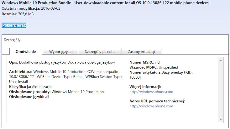 Windows 10 Mobile Build 10586.122