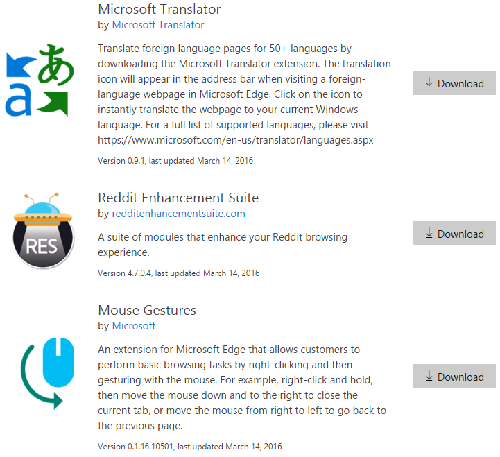 Wtyczki Microsoft Edge