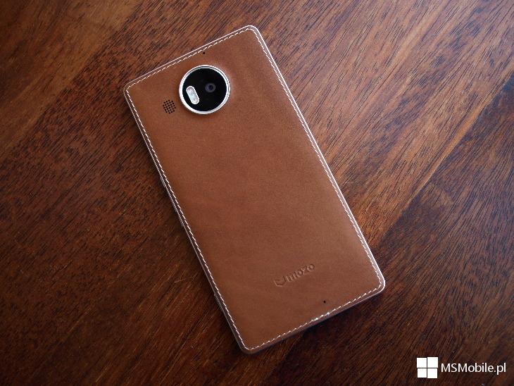 Etui Mozo - brązowa skóra dla Lumia 950 XL